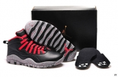 Women AAA Air Jordan 10 Retro Bulls Over Broadway Black Red