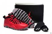 Women AAA Air Jordan 10 Retro Bulls Over Broadway Red Black