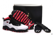 Women AAA Air Jordan 10 Retro Bulls Over Broadway White Black Red