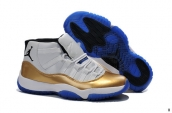 AAA Air Jordan 11 White Blue Golden