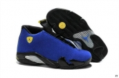 Air Jordan 14 Blue Black