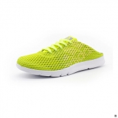 Women Adidas Mesh Slippers Fluorescent Green White