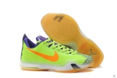 Nike Kobe X Fluorescent Green Purple Red