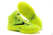 Nike Lebron 11 Kids Fluorescent Green Black