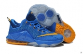 Nike Lebron 12 Low Blue Yellow