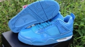 AAA Air Jordan 4 HF Leather Blue White 170