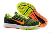 Nike Zoom Structure 18 Black Fluorescent Green Orange