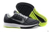Nike Zoom Structure 18 Black White Green
