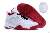Air Jordan 4 White Red Black