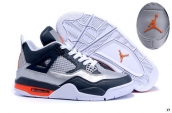 Air Jordan 4 Silvery Navy Blue White Orange