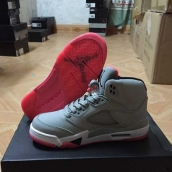 AAA Air Jordan 5 Women Grey Pink White