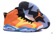 Air Jordan 6 Women AAA Orange Yellow Black Blue White