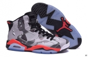 Air Jordan 6 Women AAA Camo Grey Black Red