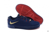 Nike Lebron 12 Casual Low Shoes Navy Blue Golden