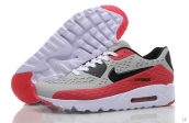 2015 Air Max 90 HYP PRM Grey Black Red White