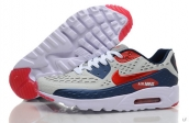 2015 Air Max 90 HYP PRM Grey Navy Blue Red White