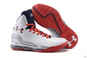Ua Curry II White Red Navy Blue