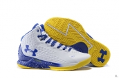 Ua Curry One White Blue Yellow