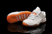 Air Jordan 11 Kid Low White Orange