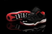 Air Jordan 11 Kid Low Black Red White