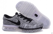 Nike Flyknit Air Max Grey Black White