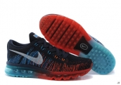 Nike Flyknit Air Max Navy Blue Red White