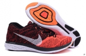 Nike Flyknit Lunar3 Orange Wine Red White Black