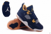 Air Jordan 4 Navy Blue Yellow White 90