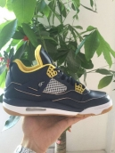 AAA Air Jordan 4 Navy Blue Yellow White 160