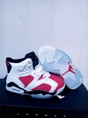 Air Jordan 6 Kids White Red Black
