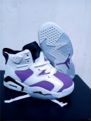 Air Jordan 6 Kids White Purple Black