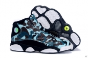 AAA Air Jordan 13 Women Camo Army Green Black White