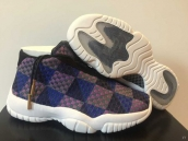 Air Jordan Future Perfect Women Purple Blue Black White