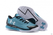 Ua Curry One Low North Carolina Blue Black White