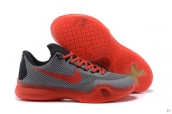 Nike Kobe X Low Grey Red Black
