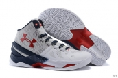 Ua Curry II White Navy Blue Red