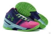 Ua Curry II Navy Blue Green Pink