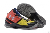 Ua Curry II Orange Yellow Grey Blue