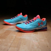 Ua Curry One Low Jade Orange Purple