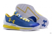 Ua Curry One Low Women Blue Yellow White