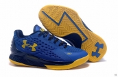 Ua Curry One Low Women Navy Blue Yellow