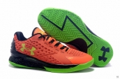 Ua Curry One Low Women Red Green Black