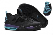 Air Jordan 4 Perfect Black Purple Turq