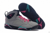 Air Jordan 7 Women AAA Grey Black Pink