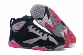 Air Jordan 7 Women AAA Black Grey Pink