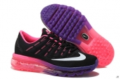 Air Max 2016 Women Black Purple Pink White