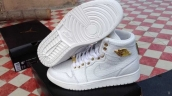 Perfect Air Jordan 1 Crocodile Skin White Golden 280