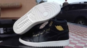 Perfect Air Jordan 1 Crocodile Skin Black White Golden 280