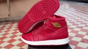 Perfect Air Jordan 1 Crocodile Skin Red White Golden 280