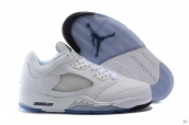 AAA Air Jordan 5 Low White Silvery 120